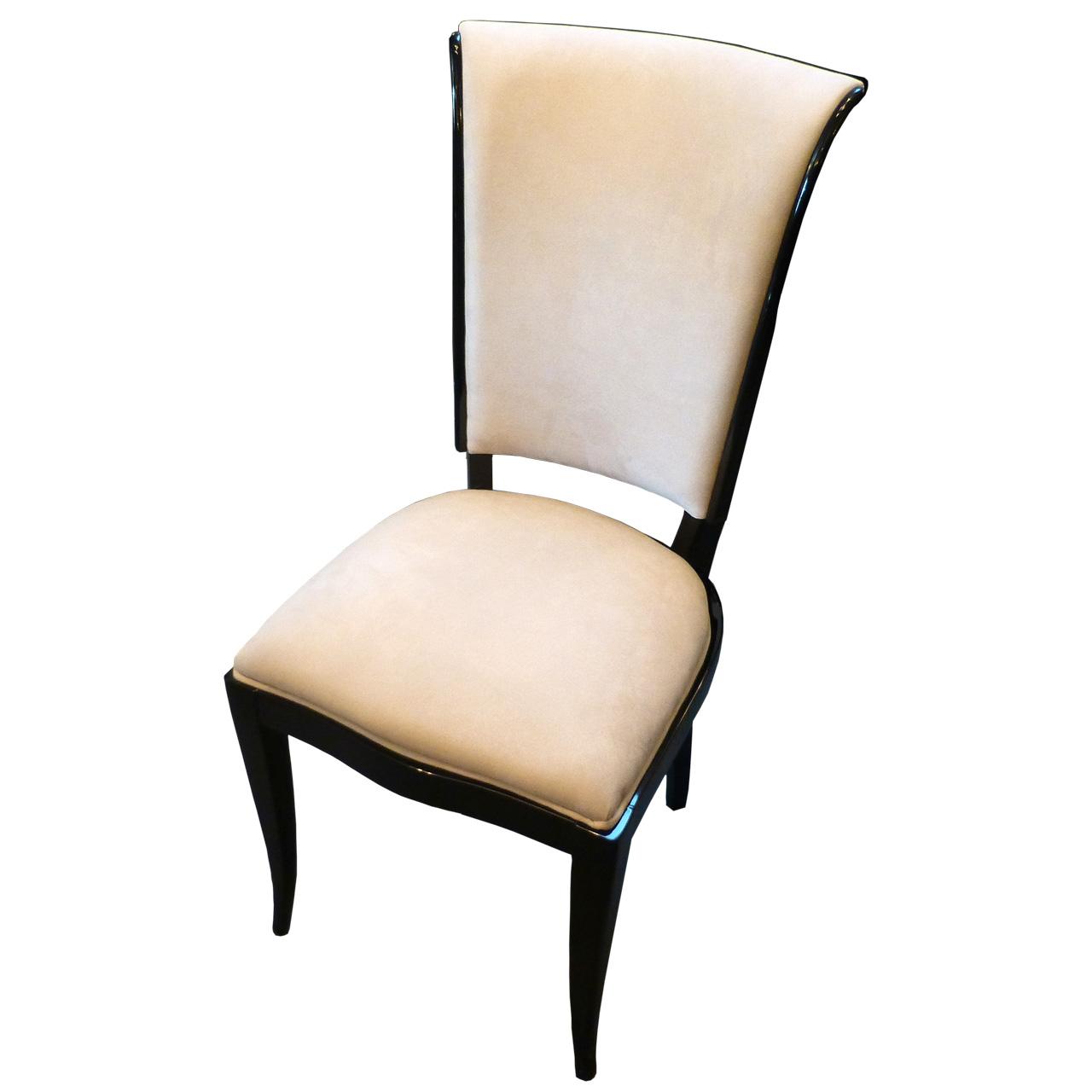 3150 8 Art Deco Stühle aus Frankreich, hochwertig restauriert. Sehr schöne geschwungene Form