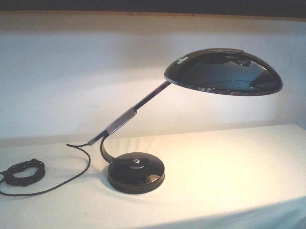 Art Deco Schreibtischlampe von Solere, Paris