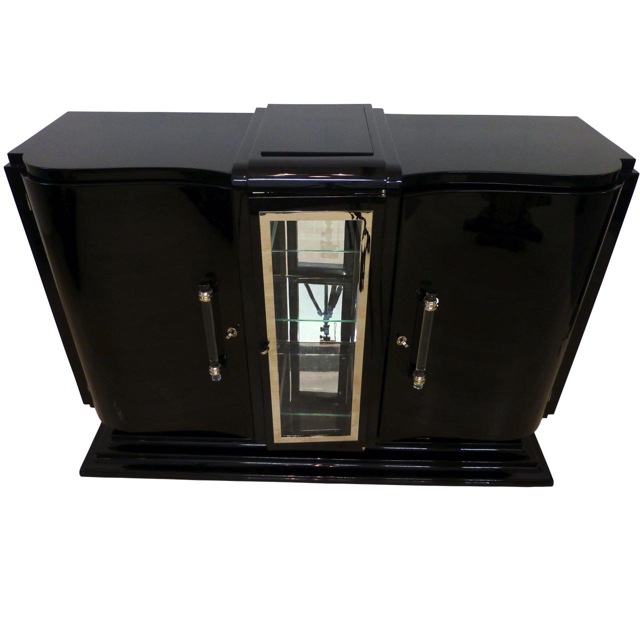 3419 Sehr elegantes originales Art Deco Sideboard, original aus Frankreich, gebaut um 1930