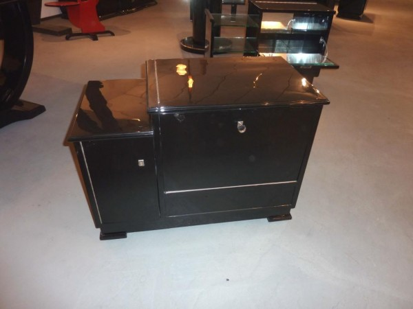 Art Deco Minibar schwarz hochglanz, poliert