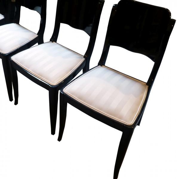 4 originale Art Deco Stühle, Frankreich