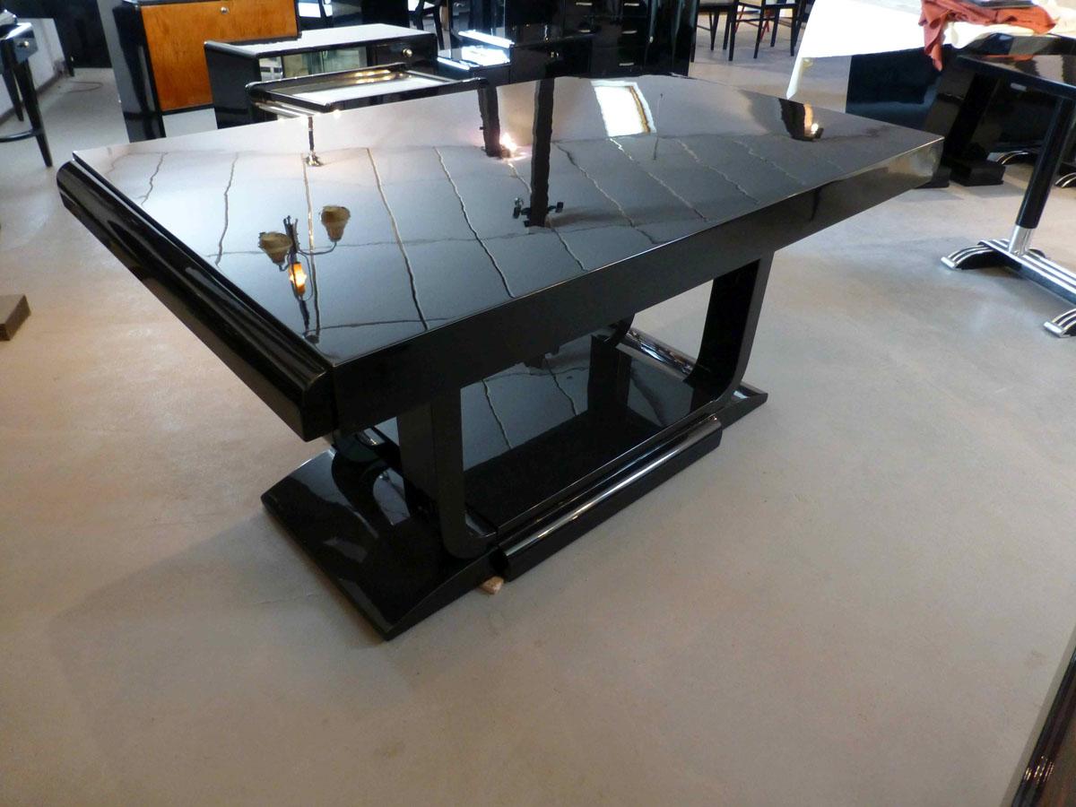 3174 Art Deco Tisch ausziehbar, Anlegeplatten können nach Wunsch hergestellt werden.