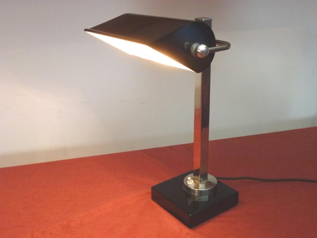Original Art Deco Schreibtischlampe Frankreich