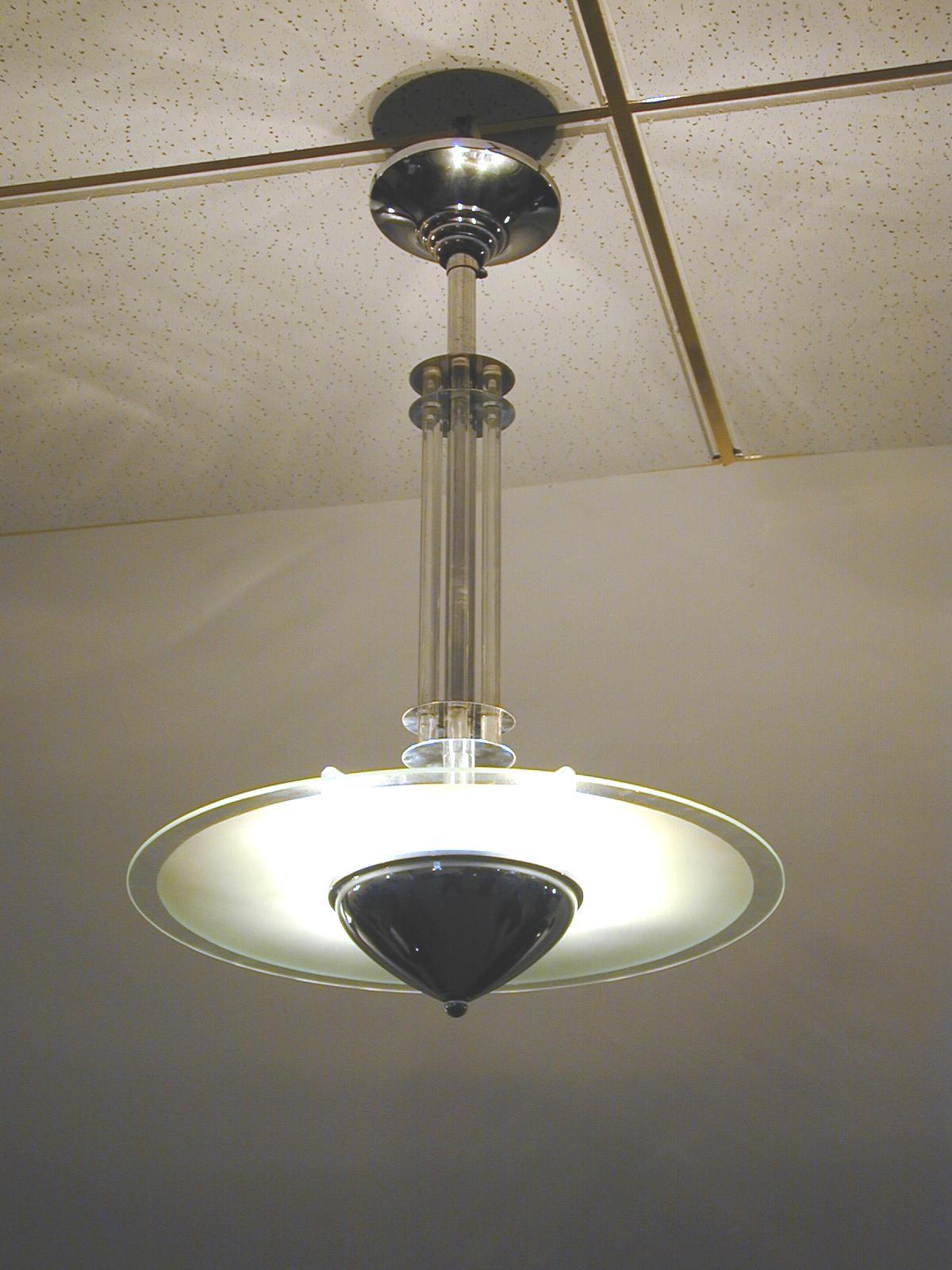 Art Deco Deckenlampe, 30er Jahre in Originalzustand - verkauft