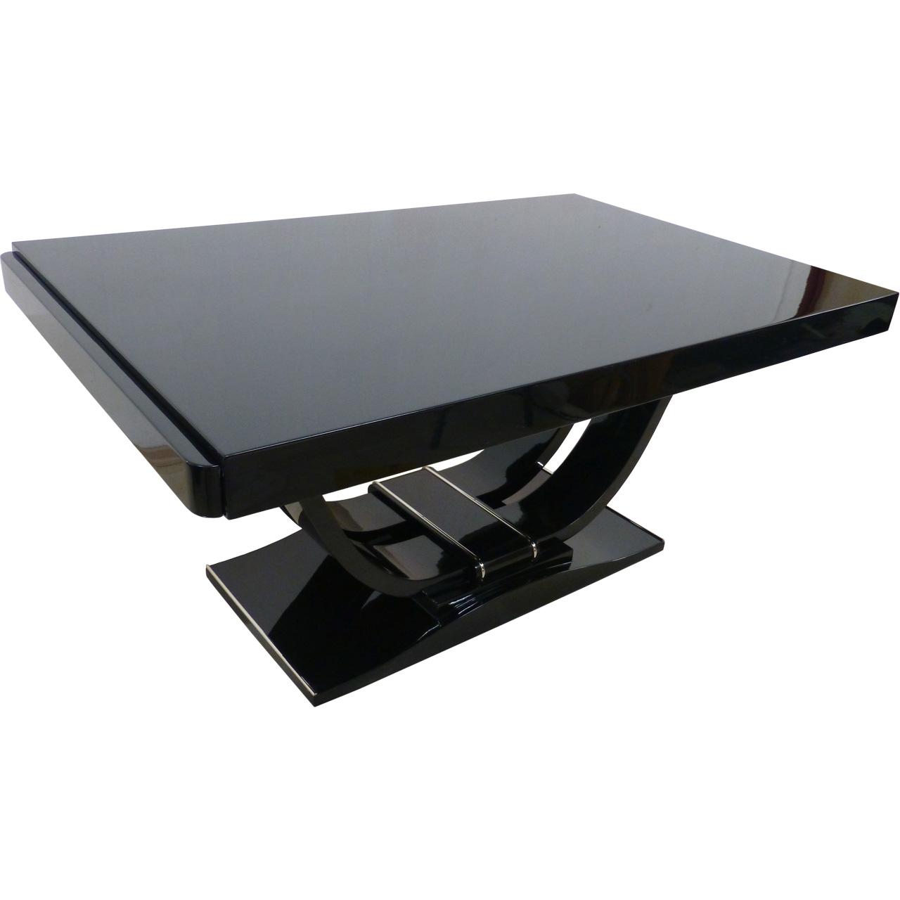 3405 Restaurierter Art Deco Tisch ausziehbar, kann mit 2 Anlegeplatte verlängert werden